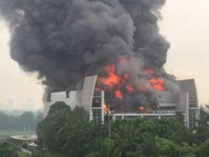 Gereja Christ Cathedral Kebakaran